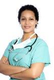 Żeńska amerykanin afrykańskiego pochodzenia lekarka Zdjęcie Royalty Free