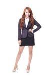 Ufna młoda biznesowej kobiety pozycja obraz stock