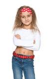 Ufna mody młoda dziewczyna obraz royalty free
