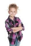 Ufna urocza mała dziewczynka zdjęcia stock