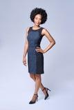 Ufnego czarnego afrykanina biznesowa kobieta Zdjęcia Royalty Free
