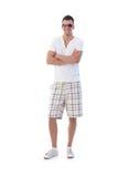 ufnego mężczyzna uśmiechnięci okulary przeciwsłoneczne młodzi obrazy stock