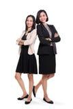 Ufni bizneswomany w formalnej odzieży, pełny ciało obraz royalty free