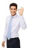 Ufny biznesmen Gestykuluje ok Fotografia Stock