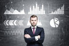 Ufny biznesmen pewny o firmy przyszłości obraz stock
