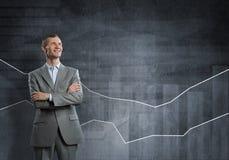 Ufny biznesmen pewny w sukcesie obrazy stock