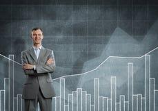 Ufny biznesmen pewny w sukcesie obraz stock