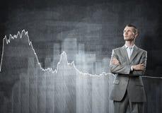 Ufny biznesmen pewny w sukcesie zdjęcia stock
