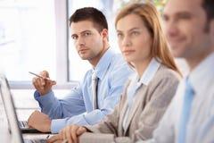 Ufny biznesmen przy biznesowym szkoleniem Obraz Stock