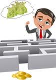 Ufny biznesmen z wysokimi oczekiwaniami Obrazy Stock