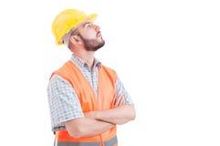 Ufny budowniczego lub inżyniera przyglądający up dobro Obraz Stock