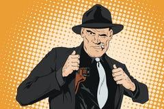 Ufny cool mężczyzna z pistoletem ilustracji