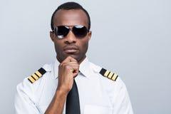 Ufny i doświadczony pilot Zdjęcie Stock