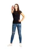 Ufny kobiety przerwy ręki gest Fotografia Stock