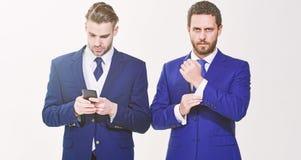 Ufny w ich stylu Ludzie biznesu wybieraj? formaln? odzie? Ka?dy szczeg?? liczy si? pojawienie elegancki Biznes obraz stock