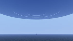 UFO über Natur lizenzfreie abbildung