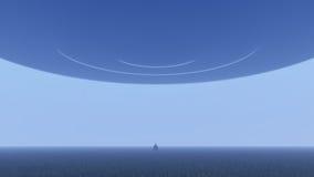UFO über Natur Lizenzfreies Stockbild
