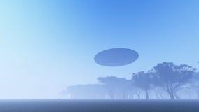 UFO über Natur vektor abbildung