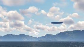 UFO über Natur Stockfotos