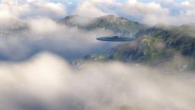 UFO über Natur Stockbild