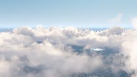 UFO über Natur Lizenzfreies Stockfoto