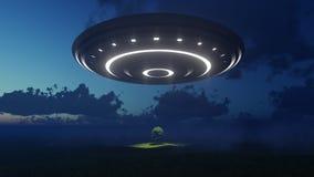UFO über Natur Lizenzfreie Stockfotografie
