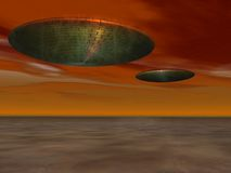 ufo αντικειμένου πετάγματο&si Στοκ εικόνες με δικαίωμα ελεύθερης χρήσης