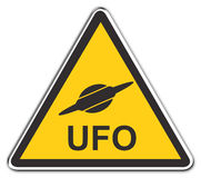 ufo προσοχής Στοκ εικόνα με δικαίωμα ελεύθερης χρήσης