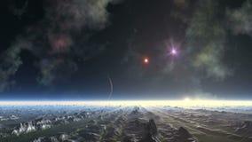 UFO звезды планеты и стрельбы чужеземца акции видеоматериалы