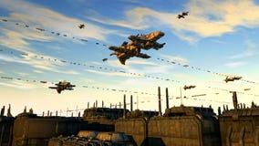 UFO космического корабля Стоковые Изображения