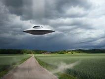 ufo посадки воздушных судн alien Стоковые Фотографии RF