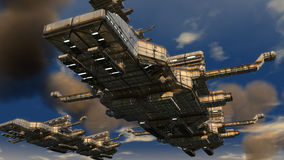 UFO чужеземца Стоковое Фото