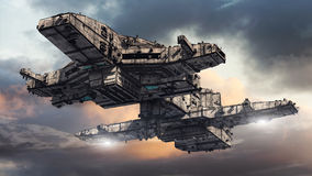 UFO чужеземца Стоковое фото RF