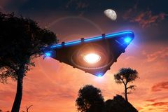 UFO Foto de Stock Royalty Free