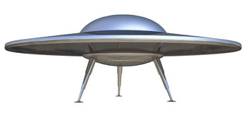 Ufo. On a white background Stock Images
