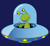 Ufo. Vector illustration Cartoon ufo and alien royalty free illustration