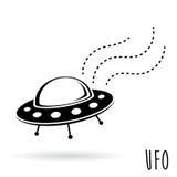 飞碟(UFO) 飞碟传染媒介例证 免版税库存照片