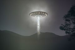Ufo abduction. Caught on camera Royalty Free Illustration