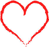 Heart painted with a brush Stock Images