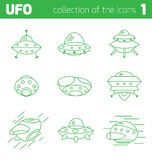 Ufo alien ships icon part one Royalty Free Stock Photos