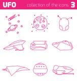 Ufo alien ships icon part three Royalty Free Stock Photos