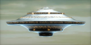 UFO Alien Spaceship / Clipping Path Included Royalty Free Stock Images