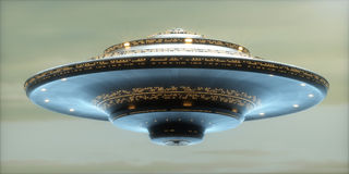 UFO Alien Spaceship / Clipping Path Included Stock Photos