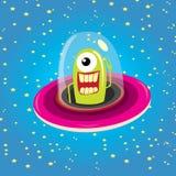 Ufo. alien vector. flying saucer Stock Image