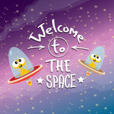 Ufo. alien vector. flying saucer. Ufo. cute alien vector illustration. flying saucer Royalty Free Stock Photos