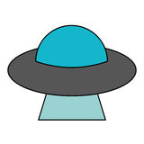 UFO aliens saucer space. Illustration eps 10 Royalty Free Stock Image