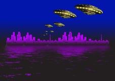 Free Ufo And City Stock Image - 3176041