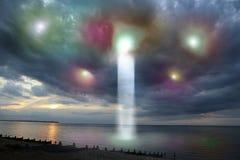 UFO-Ankunft Lizenzfreie Stockfotos