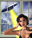 Ufo attack Royalty Free Stock Photo