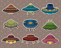 UFO-Aufkleber Lizenzfreies Stockbild